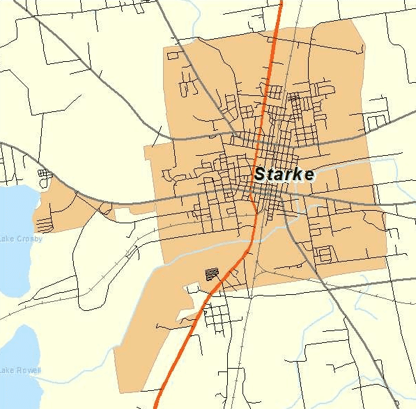 City of Starke Map